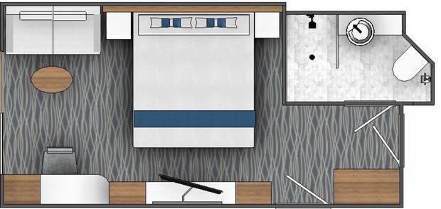 Triple Porthole Cabin (F)